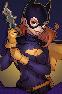 Batgirl With Batarang Minimal 4k