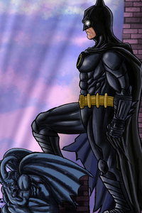 1242x2688 Batmam 89 Sketch Comic Art