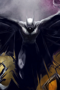 Batman 4k Paint Art