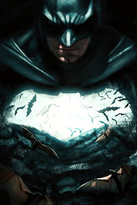 480x800 Batman 5k 2020 Art