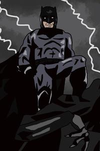 320x568 Batman 5k Artwork