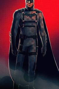 Batman 60s Tactical Suit Character Design 4k