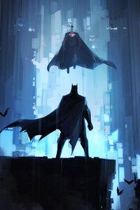 1080x2280 Batman Alone