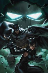 800x1280 Batman And Cat Woman 4k