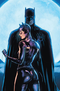 640x960 Batman And Catwoman 4k Artwork
