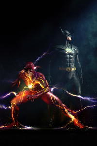 640x960 Batman And Flash 2021