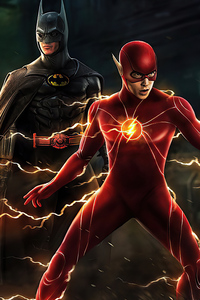 1080x2160 Batman And Flash Coming