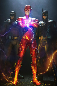 640x960 Batman And Flash Together