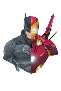 320x568 Batman And Iron Man 4k Minimalism