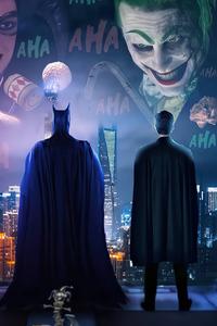 1080x2160 Batman And Joker Relation