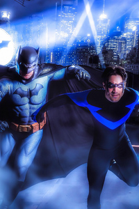 Batman And Nightwing Cosplay