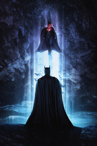 1125x2436 Batman And Superman 4k Art