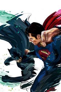 Batman And Superman Artwork 4k