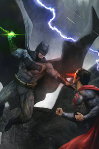 540x960 Batman And Superman Fight 4k