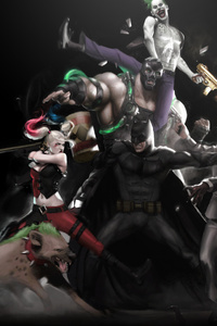 480x800 Batman And Supervillians