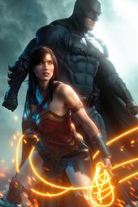 750x1334 Batman And Wonder Woman Cosplay 5k