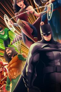1125x2436 Batman Aquaman Green Lantern 2020