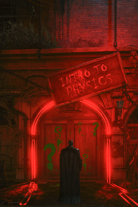 1125x2436 Batman Arkham Knight Mystery Door
