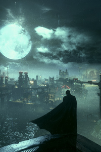 640x960 Batman Arkham Knight The Defender Of Gotham 4k