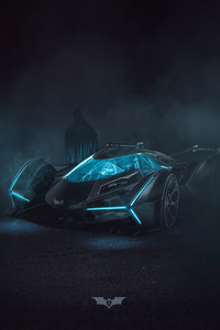 Batman Batmobile Neon