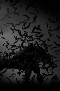 Batman Bats Art 4k