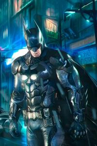 Batman Behind Batmobile