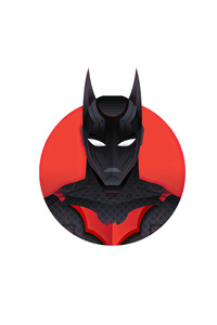 480x800 Batman Beyond 4k Minimalism
