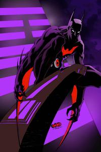 800x1280 Batman Beyond Neon Night 4k