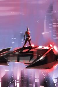 Batman Beyond On Batpod