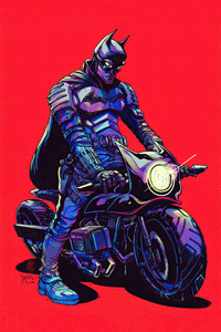 640x960 Batman Bike 4k
