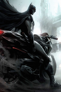1242x2688 Batman Biker