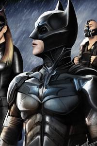 Batman Catwoman Bane