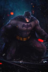 Batman Character Digital Illustration 5k