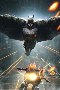 800x1280 Batman Coming 4k Artwork