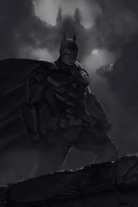 1242x2688 Batman Dark Knight 4k Art