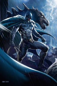 480x854 Batman Dc Comic Art 4k