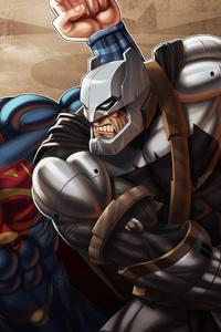 Batman Defeating Superman