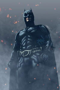 Batman Digital Paint Art 4k