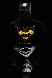 1242x2688 Batman Dying Is Easy 5k