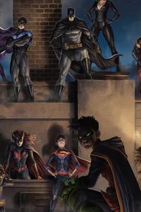 1280x2120 Batman Family And Villians