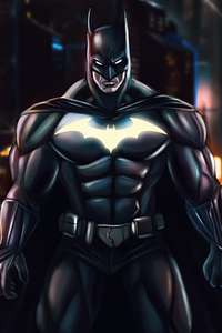 750x1334 Batman Glowing Bat Suit 4k