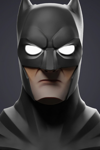 800x1280 Batman Glowing Eyes 4k