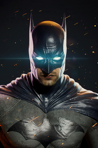 1242x2688 Batman Glowing Eyes Darkness 4k