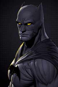 Batman Glowing Eyes Digital Art 4k