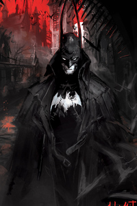 Batman Gotham Paint Art