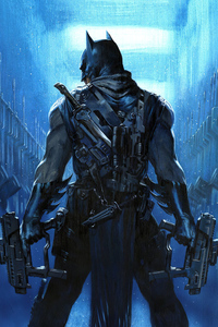 540x960 Batman Guns Artwork