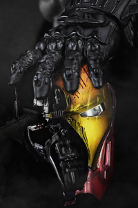 540x960 Batman Hands Over Iron Man Mask 4k