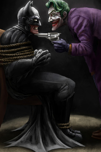 Batman Hands Tied Joker