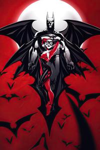 1280x2120 Batman Harley Quinn Devil 4k