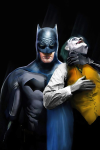 Batman Holding Joker Neck